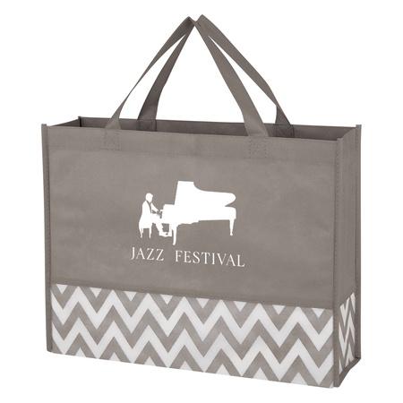 Zigzag Non-Woven Custom Tote Bags