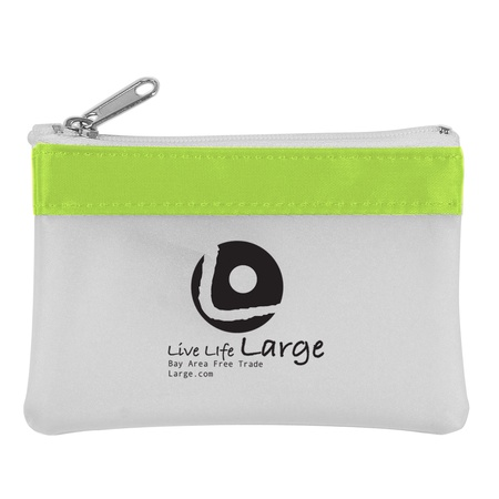 Zippered Promotional Coin Pouches