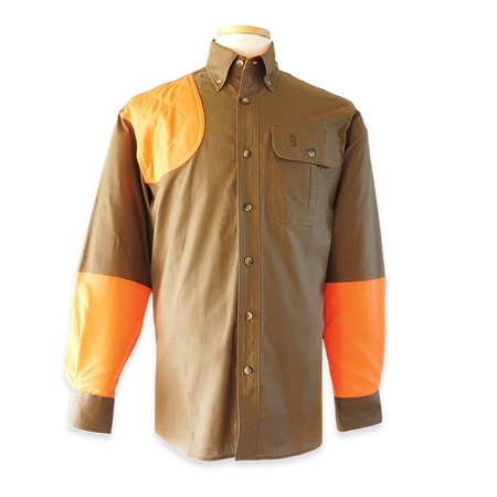 Bob Allen, High Prairie Hunting Shirt, Long Sleeve, Coffee/Orange