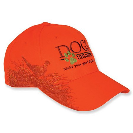 DOGS Unlimited Ball Cap, Hunter Orange, Pheasant