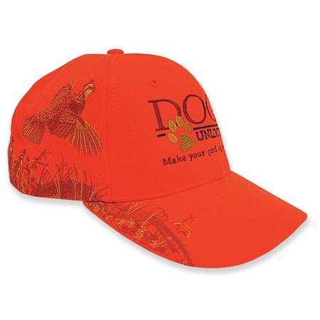 DOGS Unlimited Ball Cap, Hunter Orange, Quail