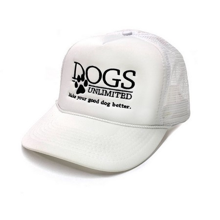 DOGS Unlimited Trucker Cap, White