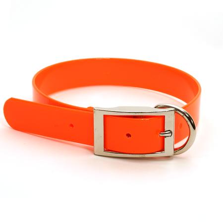 "Dura-Lon Collar, D End, 3/4"" W, 15"" L, Orange"