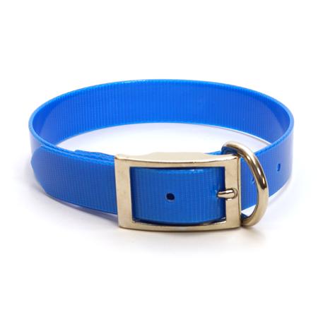 "Dura-Lon Collar, D End, 1"" W, 21"" L, Royal Blue"