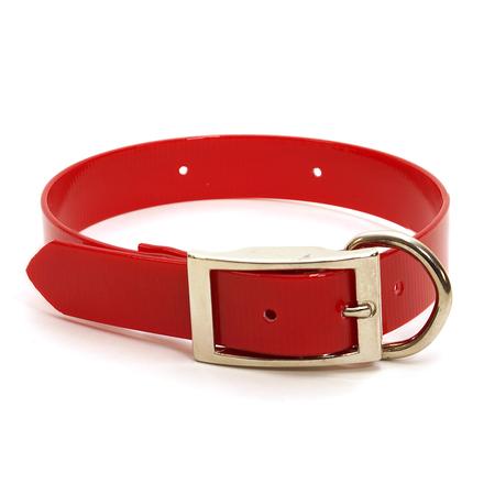"""Dura-Lon Collar, D End, 3/4"""" W, 21"""" L, Red"""
