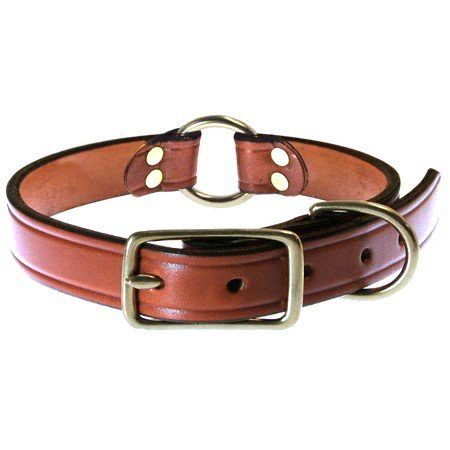 FieldKing Bridle Leather Collar, Double Ring Style