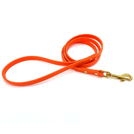 FieldKing Dura-Flex Puppy Leash, 4 Feet Long, Orange