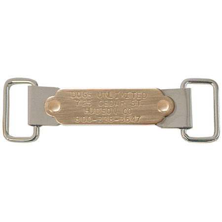 FieldKing Traveling Solid Brass Nameplate