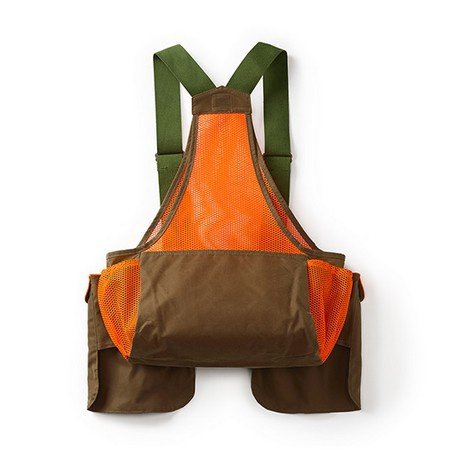 Filson, Mesh Game Bag Vest with Blaze Orange
