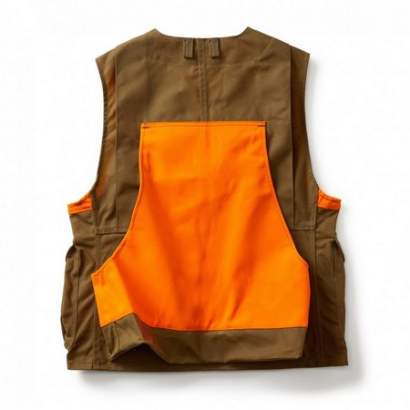 Filson, Upland Hunt Vest Blaze, Tan/Blaze Orange