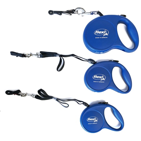 Flexi, The Original Retractable Dog Leash, Blue, 16 Ft Long