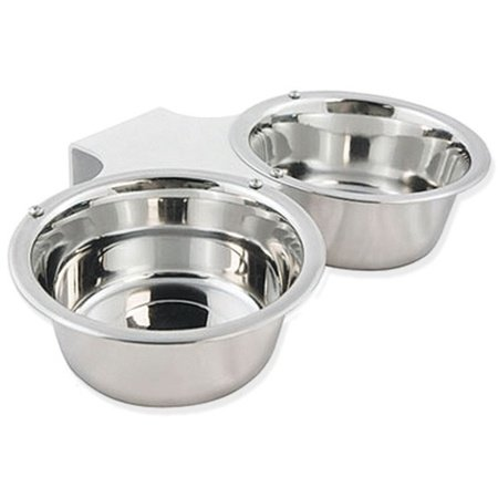 Kennel Gear, Bowl Only, Stainless Steel Yoke, 2 Quart Double