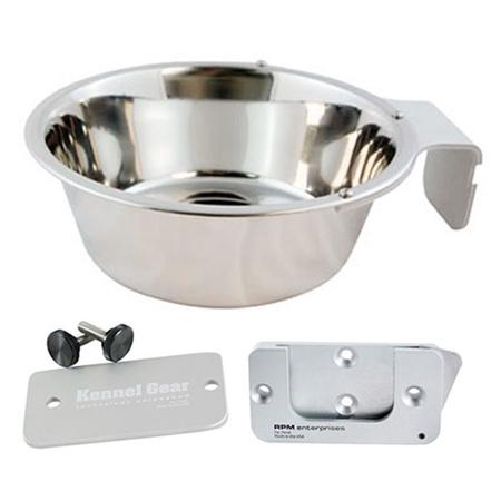 Kennel Gear, Bowl System, Stainless Steel Yoke, 1 Quart