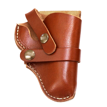 Leather Snap Off Belt Holster, Size 7, Right Handed