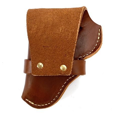 Leather Snap Off Belt Holster, Size 36, Right Handed