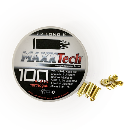 Maxx Tech, .22 Caliber Blank Cartridges, Long