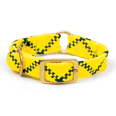 "Mendota, Center Ring Dog Collar, Hi-Viz Yellow, 1"" W"