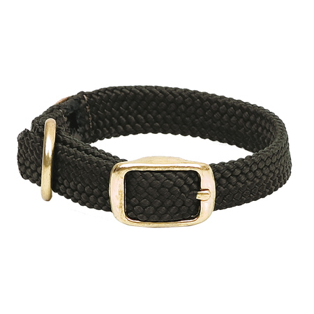 """Mendota, Double Braided Junior Dog Collar, 9/16"""" Wide up to 14"""" Long"""