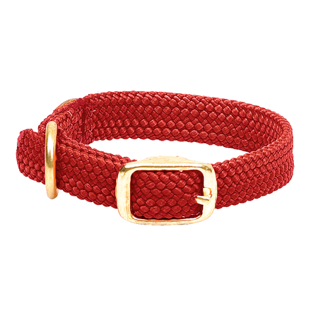 "Mendota, Double Braided Junior Dog Collar, 9/16"" Wide up to 14"" Long"