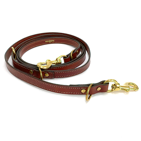 "Mendota, Leather Jaeger Dog Lead, 3/4"" x 8'"