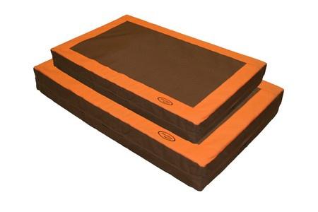 """Mud River, 4"""" Memory Foam Dog Bed, Brown"""