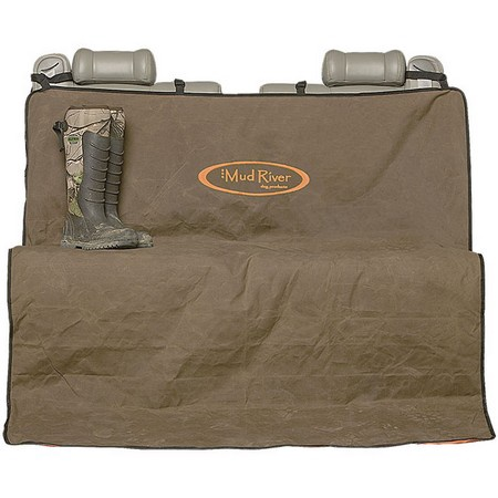 Mud River Dog Products, 2 Barrel Seat Cover, Brown, Regular