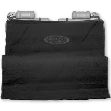 Mud River Dog Products, 2 Barrel Seat Cover, Black/Gray, Regular