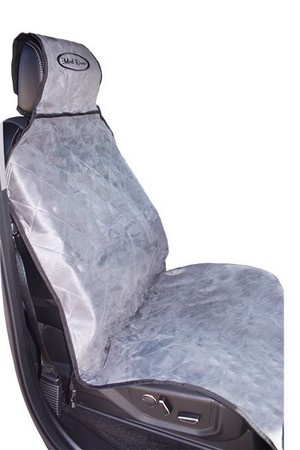 Mud River Dog Products, Fitted Shotgun Seat Cover, Grey