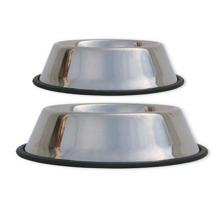 Non Skid Dog Bowl, Stainless Steel