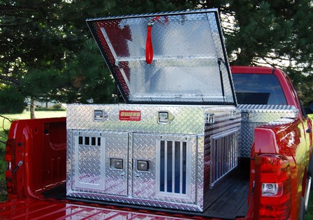"""Owens, Hunter Series Dog Box, 38"""" W x 45"""" D, Double Compartment, Top Storage, All Seasons Vents"""