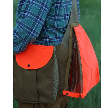 Pineo, Avatar Upland Hunting Vest, Hunter Orange/Coyote Tan