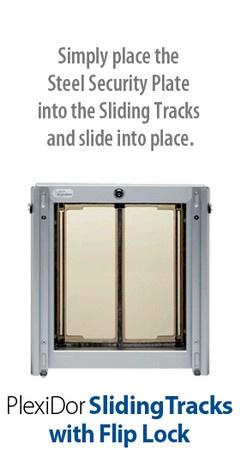 PlexiDor Pet Doors, Security Plate Tracks