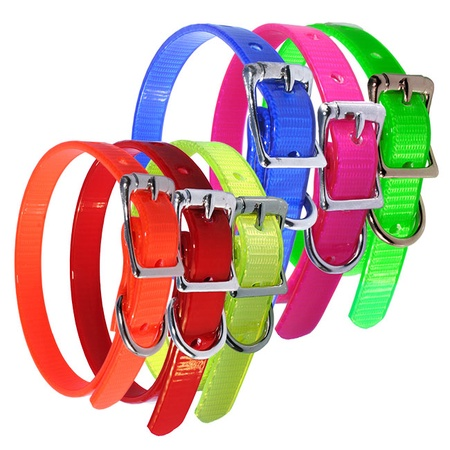 Puppy Collars, Set of 6 Assorted Colors, Large