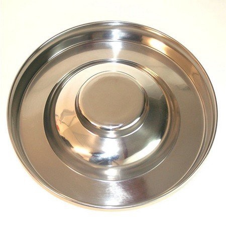 Puppy Feed Dish, Stainless Steel, 15""