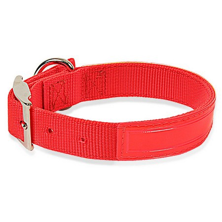 "Reflective Nylon Dog Collar, Standard, 1"" Wide, Orange"