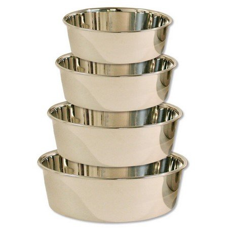 Regular Feeding Dog Bowl, Stainless Steel