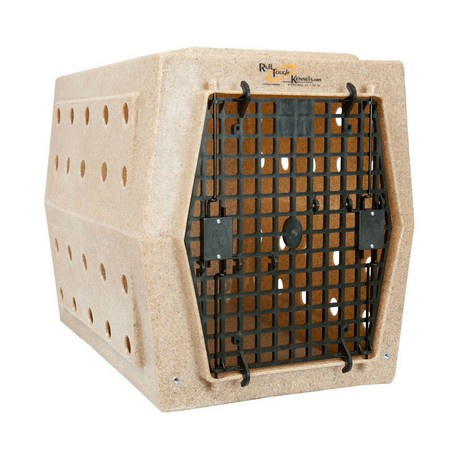 Ruff Land, Intermediate Kennel, Double Doors Right Side Entry, Rockstone (Tan)