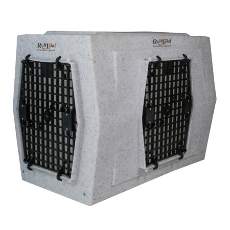 Ruff Land, Large Kennel, Double Doors Right Side Entry