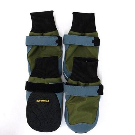Ruffwear, Bark'n Boots Skyliner Boots, Green, Large, (NEW)