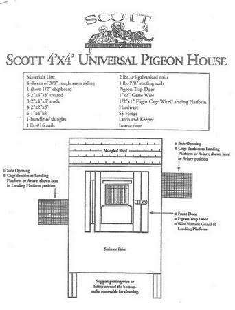 Scott, 4' x 4' Universal Pigeon House