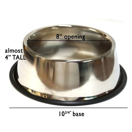 Spaniel / Cocker Non-Skid Bowl, Stainless Steel, 32 oz