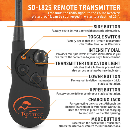 SportDog, SD-1825, SportHunter A-Series 1 Mile Remote Trainer