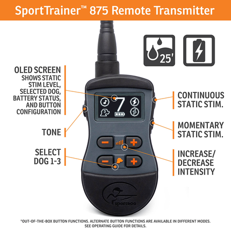 SportDog, SD-875, SportTrainer 875, Orange
