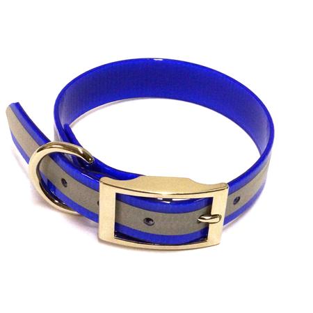 "SunGlo Standard Dog Collar, Reflective, Blue, 1"" Wide"