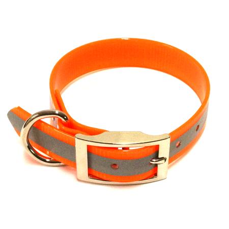 "SunGlo Standard Dog Collar, Reflective, Orange, 1"" Wide"