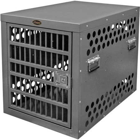 Zinger, Professional 4000 Aluminum Dog Crate with Escape Artist Upgrade Package, Front Entry