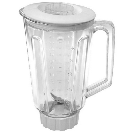 44oz, Break Resistant Plastic Jar, Complete. Fits Hamilton