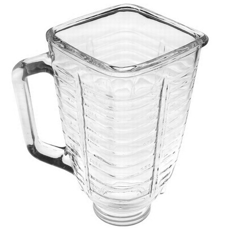 5 Cup Glass Square Top Blender Jar fits Oster & Osterizer Blenders