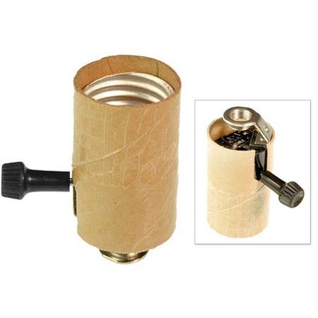 926 Lamp Socket Interior, 3 Way Knob Switch, 1/8 Bracket