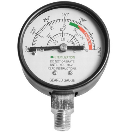All American 72s Geared Sterilizer Gauge